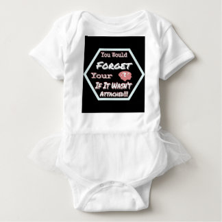 Dont Forget Your Head Baby Bodysuit