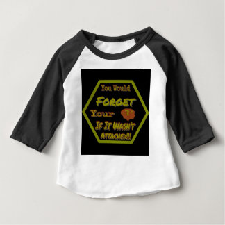 Dont Forget Your Head Green Baby T-Shirt