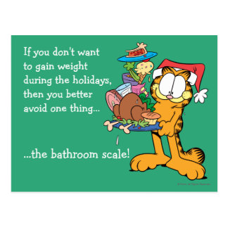 Don't Gain Weight During the Holidays Post Cards