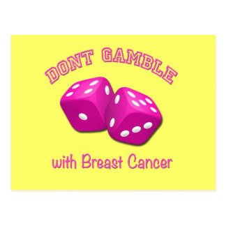 Don't Gamble with Breast Cancer Postcard