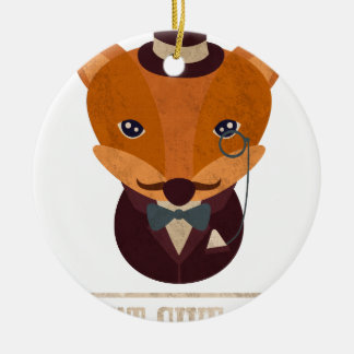 Dont Give A Fox Comic Animal Round Ceramic Ornament