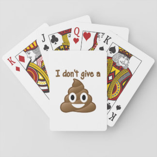 Don't Give An Emoji Poop Playing Cards
