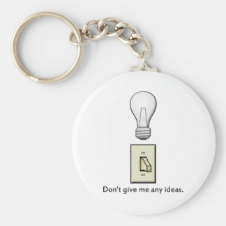 Don't give me any ideas. basic round button keychain
