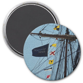 Don't Give Up The Ship Flag Magnet