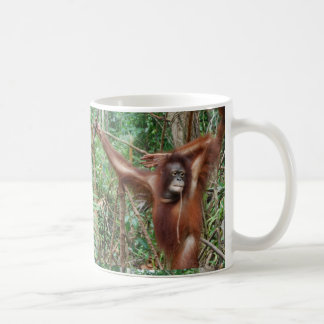 Don't Hate Me for Being Beautiful Funny Apes Coffee Mug