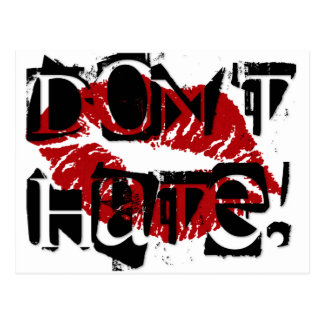 DONT HATE POSTCARD