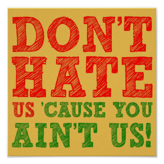 Don't hate Us Cause You Ain't Us Funny Poster Sign