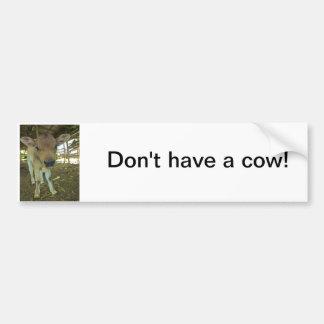 Don't have a cow~ bumper sticker