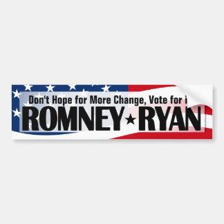 Don't Hope, Vote for Romney/Ryan Bumper Sticker