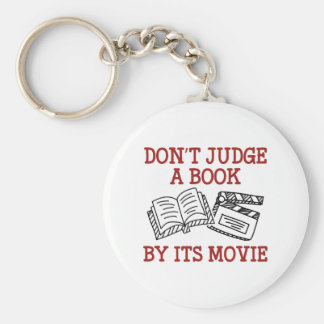 Don't Judge A Book By Its Movie Basic Round Button Keychain