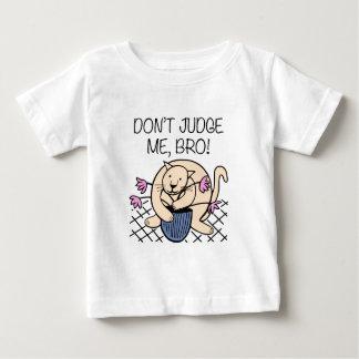 Don't Judge Me Bro Cat Cartoon Baby T-Shirt