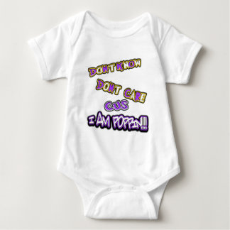 don't know dont care-I am poppin! Baby Bodysuit