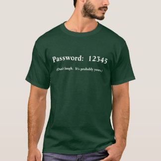 (Don't laugh.  It's probably yours.), Password:... T-Shirt