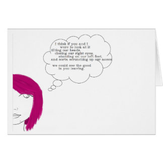 Don't Leave Greeting Card