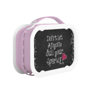 Don't Let Anyone Dull Your Sparkle Quote Lunch Box
