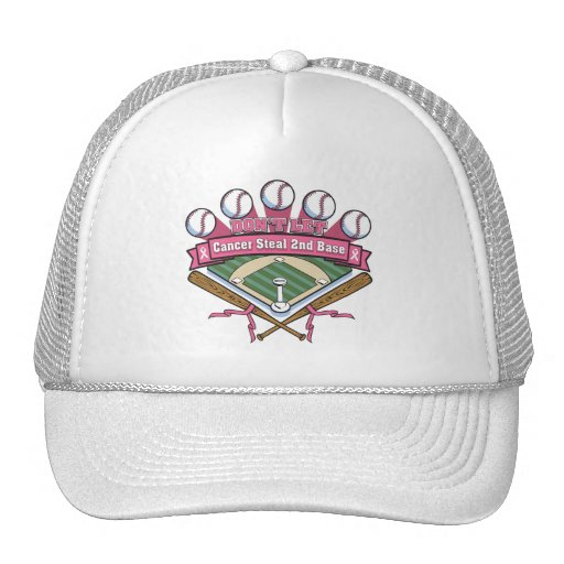 Don't Let Breast Cancer Steal 2nd Base Mesh Hats
