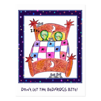 Don't Let The Bedfrogs Bite! Postcard