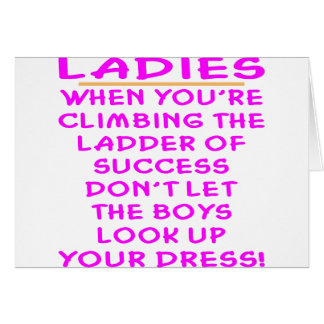Don't Let The Boys Look Up Your Dress Greeting Card