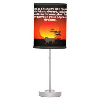 Don't let the Devil devour your expectations! Table Lamp