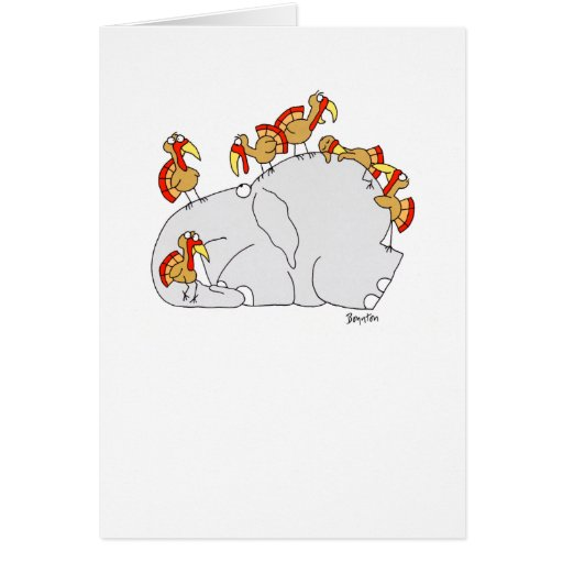 DON'T LET THE TURKEYS GREETING CARDS