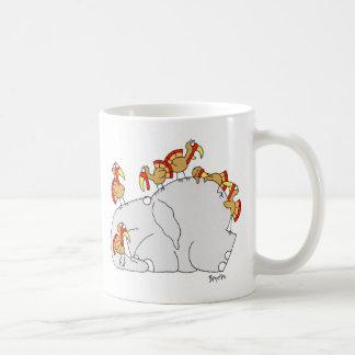 Don't Let the Turkeys Get You Down Basic White Mug