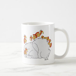 Don't Let the Turkeys Get You Down Classic White Coffee Mug
