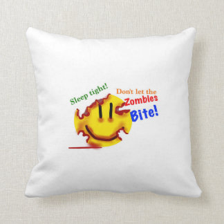 Don't let the zombies bite! throw pillow