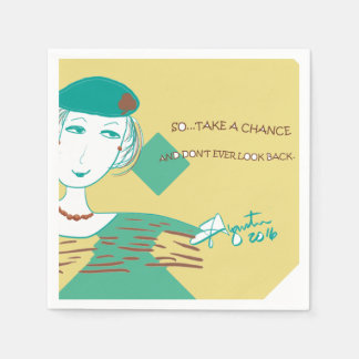 DON'T LOOK BACK - custom set of 50 napkins Disposable Napkin