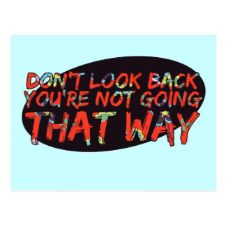Don't look back postcard