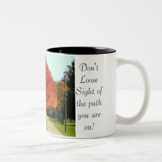 Don't loose sight Mug Two-Tone Mug