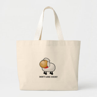 dont lose count sheep large tote bag