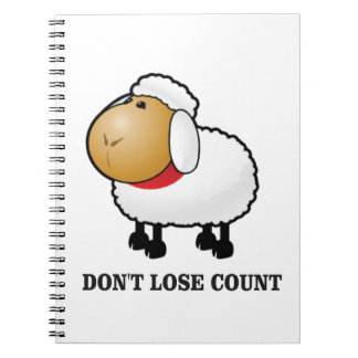 dont lose count sheep notebooks