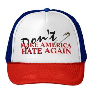 """Don't make America hate again"" TRUCKER CAP Trucker Hat"