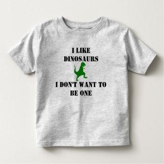 Don't Make me a Dinosaur Toddler T-shirt