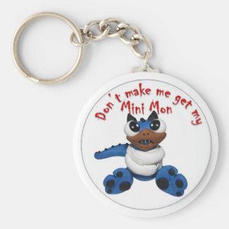 Don't make me basic round button keychain