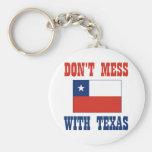 DON'T MESS TEXAS w/Chilean Flag Key Chain
