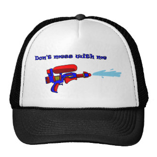 Don't mess with me red water pistol hat