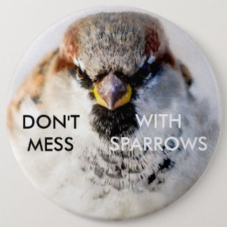 Don't Mess With Sparrows 6 Inch Round Button
