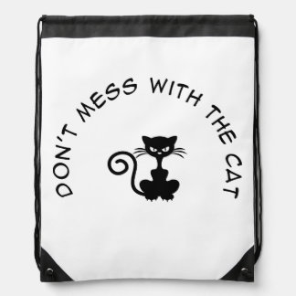 Dont Mess With the Cat Drawstring Bag