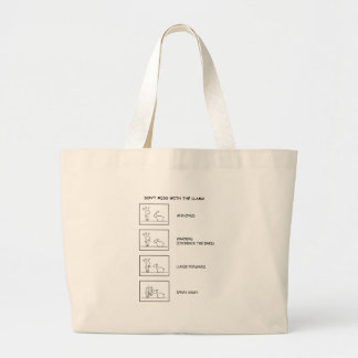 Dont Mess With The Llama Large Tote Bag