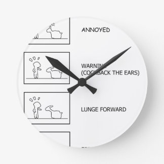 Dont Mess With The Llama Round Clock