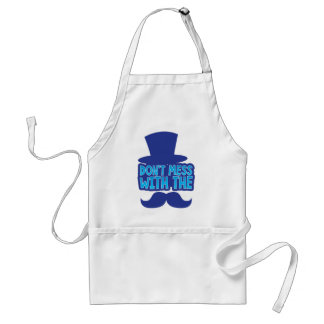 Don't mess with the Moustache Adult Apron