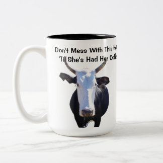 Don't Mess With This Heifer Funny Cow Mug
