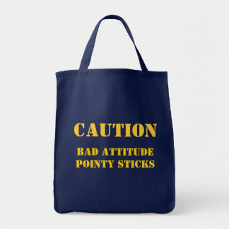 Don't mess with this knitter! tote bag
