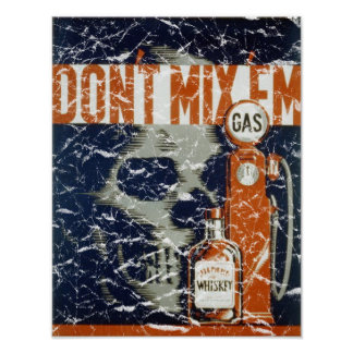 Don't Mix 'Em - 1936 - distressed Poster