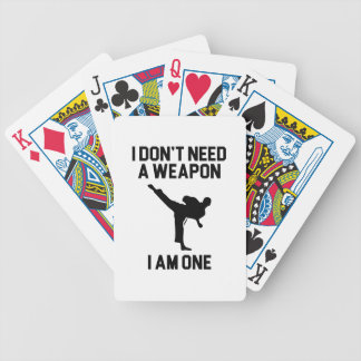 Don't Need a Weapon Bicycle Playing Cards