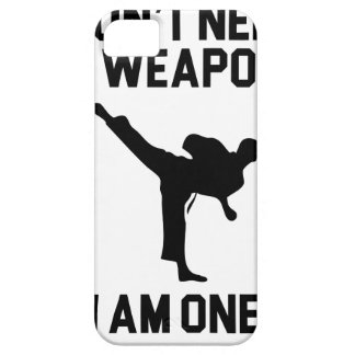 Don't Need a Weapon iPhone 5 Cover