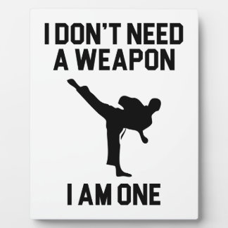 Don't Need a Weapon Plaque