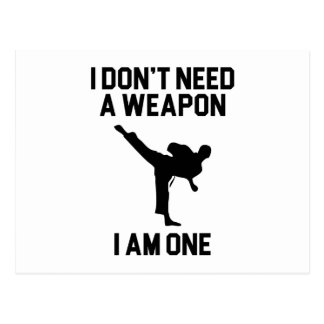Don't Need a Weapon Postcard