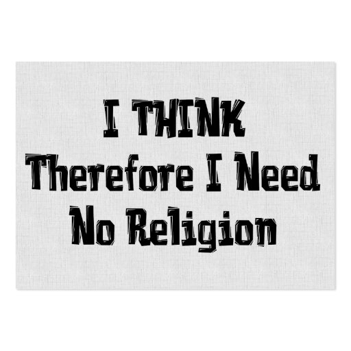 Don't Need Religion Business Card Template